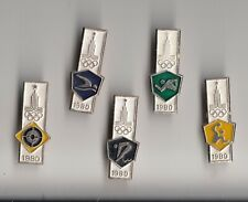 JOB LOT Collection Vintage OLYMPIC GAMES pin badges 1980s Russia Moscow