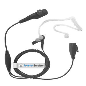 HYTERA COVERT ACOUSTIC TUBE EARPIECE WITH MIC & PTT FOR PD705 PD785 x 1