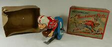 Linemar Mechanical Touchdown Pete Japan Tin Toy W/ Original Box