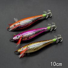 3pcs Glow Squid Calamari Jig Sinking Duel Lure EGI Squid Bait 10cm/9g