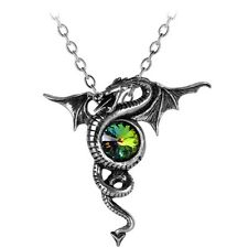 Official Alchemy Gothic Anguis Aeternus Dragon Pendant with Swarovski Crystal