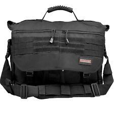 Humvee Tactical Briefcase Shoulder Bag EDC Work Office School Laptop Bag BLACK-