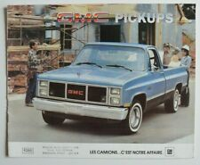 GMC Pickups Sierra 1985 dealer brochure catalog - French - Canada