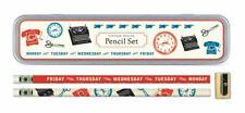 Cavallini - Tin of Pencils - Vintage Office - 10 pencils/2 Designs, & Sharpener