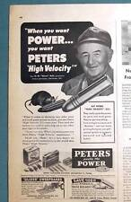 1951 Peters Cartridge Magazine Ad Endorsement by Newt Ault of Charleston, MO