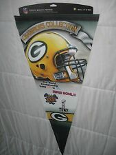 WORLD CHAMPION GREEN BAY PACKERS NFL Licensed Lg Commemorative Pennant-Football!