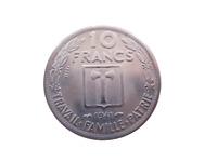 France 10 Francs Maréchal Pétain de M.Delannoy Essaie 1941