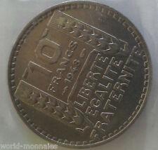 10 francs turin 1948 : SPL : pièce de monnaie française