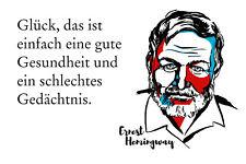 Ernest Hemingway Spruch 2 Blechschild Schild gewölbt Metal Tin Sign 20 x 30 cm