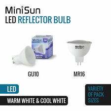 4 X MiniSun 5w LED Gu10 Light Bulbs Thermal Plastic 6500k Daylight Lightbulbs a