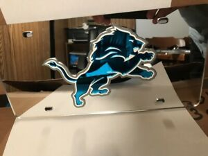 NFL Detroit Lions Laser License Plate Tag - Silver