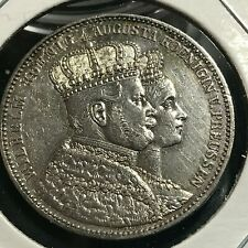1861-A GERMANY PRUSSIA SILVER CORONATION THALER NEAR UNCIRCULATED