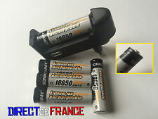 5 PILES RECHARGEABLE BATTERIE 18650 Li-ion 3.7V 4800Mah + CHARGEUR MDL 2016 USB