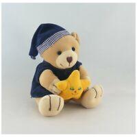Doudou ours bleu marine étoile jaune JOLLYBABY - Ours Classique