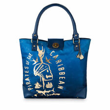 NWT Disney Store Pirates of the Caribbean Blue Tote Bag Purse
