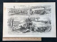 1884 Civil War Engraving, Federal Soldiers Destroying Confederate Railroads