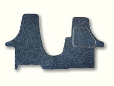 Anthracite with black edging. Cab mat for Kiravans T5 double swivel