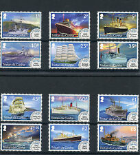 Tristan da Cunha 2015 MNH Early Main Ships Definitives 12v Set Boats RMS Odin