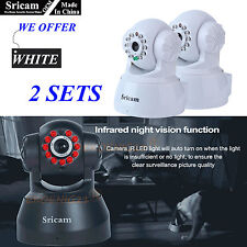 2 Set of OEM Sricam 720P Wireless IP Camera WiFi Security Night Vision Cam White