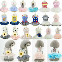 Small Dog Tutu Dress Pet Puppy Lace Skirt Cat Princess Dress Clothes Apparel New