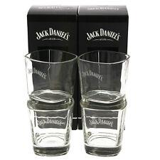 More details for 2 x 2 jack daniel's rocks glasses tumbler whisky pair jd home bar pub man cave t