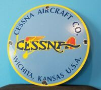 VINTAGE CESSNA AIRCRAFT PORCELAIN GAS AIRPLANE SALES SERVICE DEALERSHIP SIGN