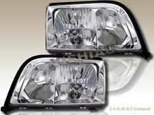 92-99 Mercedes Benz W140 S Class 4Door Sedan Chrome Clear Headlights Pair