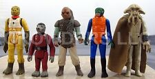 Vintage Star Wars Bossk Snaggletooth Weequay Ponda Baba & Squid Head Tessek 3.75
