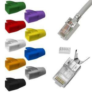 10-100x Netzwerkstecker RJ45 Stecker CAT5 CAT6 CAT7 LAN vergoldete Kontakte
