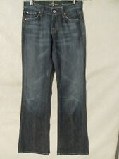 F1087 7 For All Mankind Boot Cut High Grade Stretch USA Made Jeans Women's 26x32