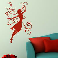 Fairy Woman Fairy Wall Sticker / Girls Room Decal Art / Angel Wall Transfer WO6