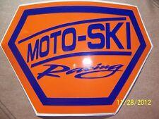 "4""X 6"" (NEW Vinyl) MOTO-SKI RACING STICKER (Blue and Orange Vinyl)"