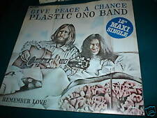 "PLASTIC ONO BAND RARE 12"" BEATLES GIVE PEACE A CHANCE"