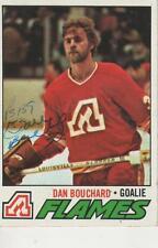 DAN BOUCHARD SIGNED 1977-78 TOPPS #37 - ATLANTA FLAMES