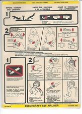 Safety Card - Generic - Beech C99 W/ Ext Ins 83 (S2128)