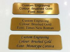 Personalised Name Plates Laser Engraved Trophy Plaque / Name Plaque