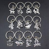 Zodiac Sign Keychain Astrological Sign Astrology Key Ring Home Car Key Chain