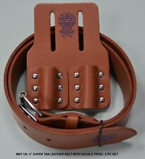 Tan Belt with Double Frog