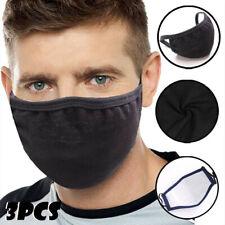3pcs Face Mask Protective Breathable Anti-allergic Mouth Washable Protection UK