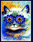 Print - Louis Wain - Trippy Kitty - Flower Power