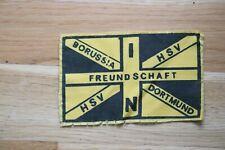 Fan Aufnäher Freundschaft Borussia Dortmund / HSV sehr alt aus den 1970er Jahren