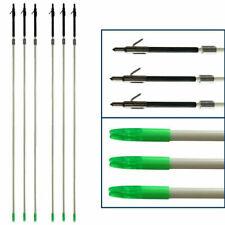 6PCS Bowfishing Arrows Carbon Fiber Broadhead & Safety Slides Archery Hunting