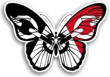 Beautiful Butterfly Design & Black Country West Midlands Flag vinyl car sticker
