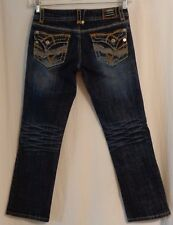 women's Hydraulic Ultra Low Rise Bold Stitch 5 Pocket Cropped Jeans size 7/8