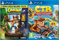 Crash Bandicoot Team Racing PS4 MINT - Same Day Dispatch - SUPER FAST DELIVER