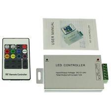 RGB LED RF Controller Remote Steuerung + 20Key Fernbedienung 12...24V 12A