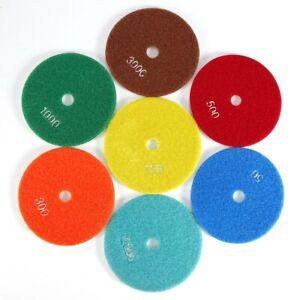 5'' Wet/Dry Diamond Polishing Pads Marble Stone Concrete Grinding Discs 125mm