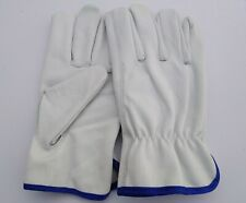 05 Pair, Cowhide Leather Gloves Hunting, Drivers, working , safety gloves