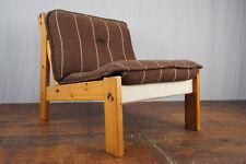 Safari Fauteuil Vintage 70er Easy Chaise Danish Modern Milieu Du Siècle Pin Bois