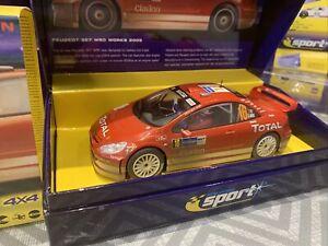 SCALEXTRIC SPORT PEUGEOT 307 WRC WORKS 2005 No 16 Mud Affect A2561a Ltd Edition
